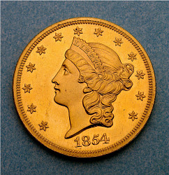 20 Dollars, United States, 1854-S