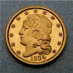2 1/2 Dollars, United States, 1834