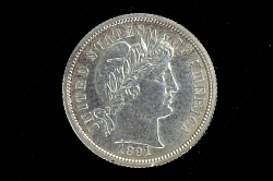Ten Cents Coin Pattern, United States, 1891