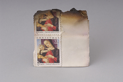 Singed postage stamps