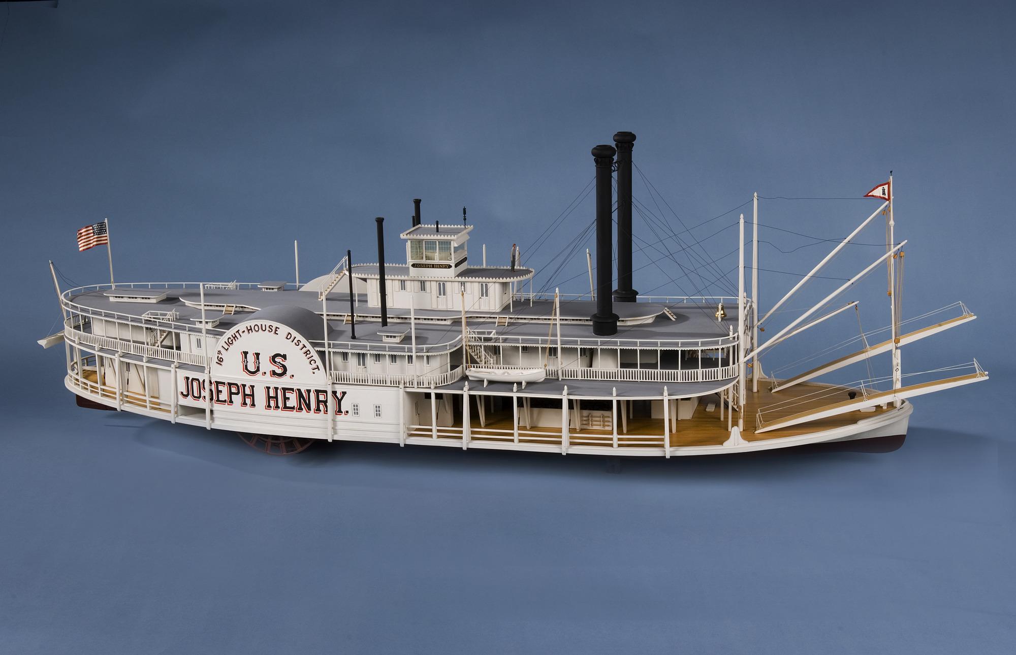 Ship Model, Lighthouse Tender Joseph Henry