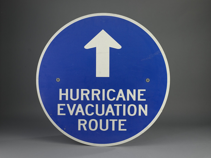 Image for Hurricane Evacuation Route Road Sign