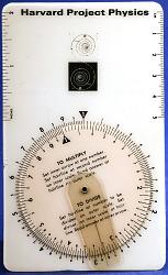 Harvard Project Physics Circular Slide Rule
