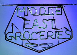 Middle East Groceries Neon Sign