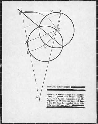 Documents Relating to Crockett Johnson's Painting Construction of Heptagon