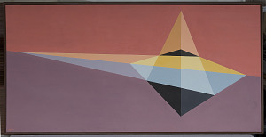 images for Painting - <I>Aligned Triangles (Desargues)</I>-thumbnail 1