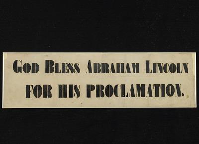 Paper Banner, around 1863