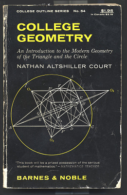 Book, College Geometry: An Introduction to the Modern Geometry of the Triangle and the Circle
