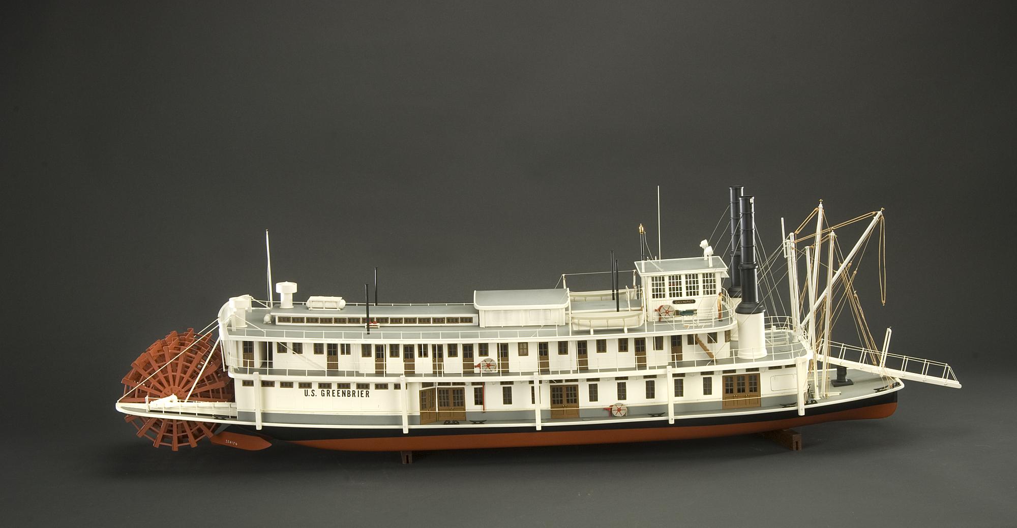 Ship Model, U.S. Lighthouse Service Tender, Greenbrier