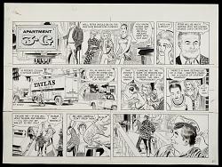 Camera-ready comic strip, entitled Apartment 3-G