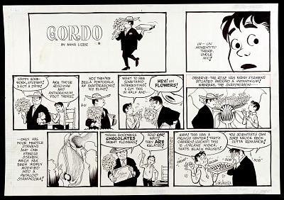 Camera-ready comic art drawing for <i>Gordo</i>