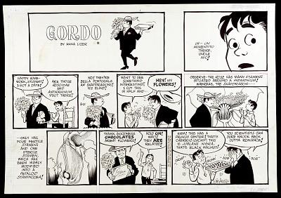 Camera-ready comic art drawing for <i>Gordo</i>