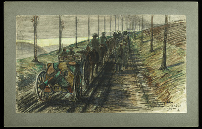 The Long Hill 75 Regiment Near Liny Devant Dun 1918