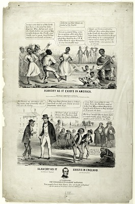 Slavery as it Exists in America./ Slavery as it Exists in England.