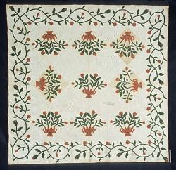 1850 - 1854 Mary C. Pickering's Applique Quilt