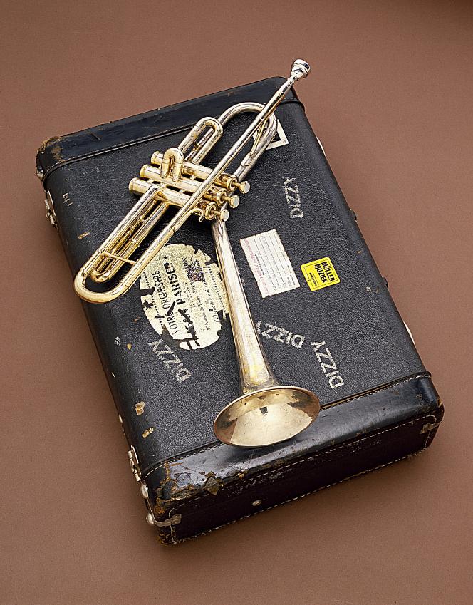 King B-Flat Trumpet, used by Dizzy Gillespie