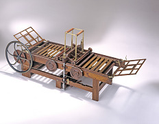 Patent Model for Bed-and-Platen Printing Press
