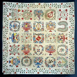 """1847 Rev. Nadal's """"Baltimore Album"""" Quilt"""