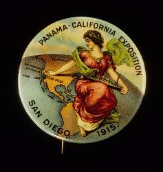 Panama-California Exposition Souvenir Button