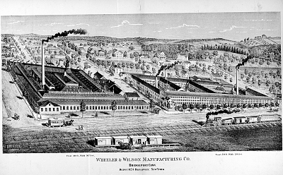 Lithograph of the Wheeler & Wilson Manufacturing Company