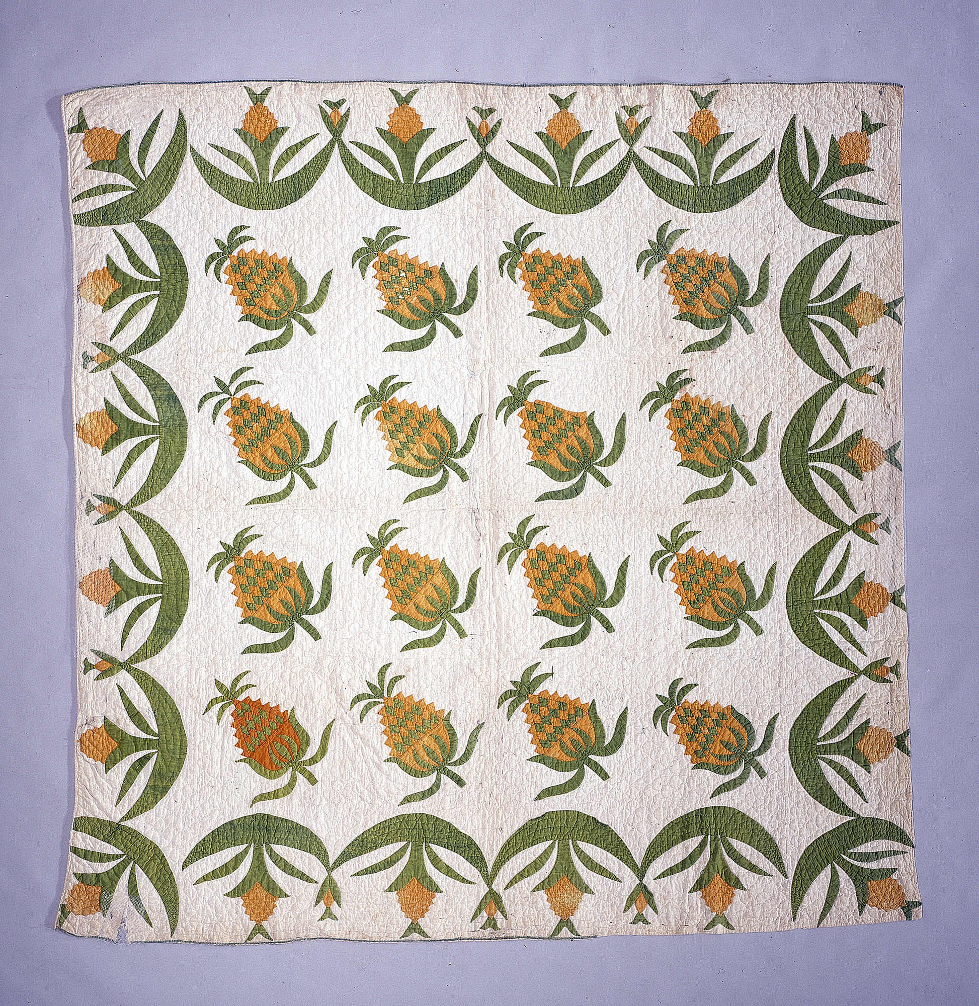 "images for 1840 - 1860 ""Pineapple"" Quilt"