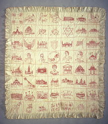 1905 Hulda and Ellen Larson's Pan-American Exposition Quilt