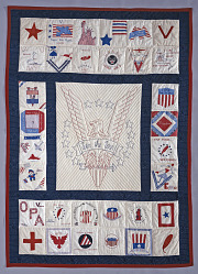 1965 - 1975 Welthea Thoday's World War II Friendship Quilt