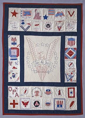 1965 - 1975 Welthea Thoday's World War II Friendship Quilt