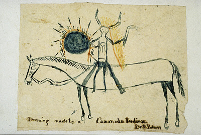 Drawing made by a Comanche Indian