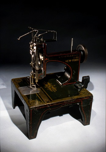 Isaac Singer sewing machine patent model, 1855