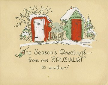 Holiday cards page 3 smithsonian institution the seasons greetings from one specialist to another greeting card m4hsunfo