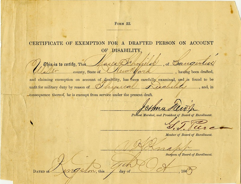Resources :: Certificate of Exemption for a Drafted Person on ...