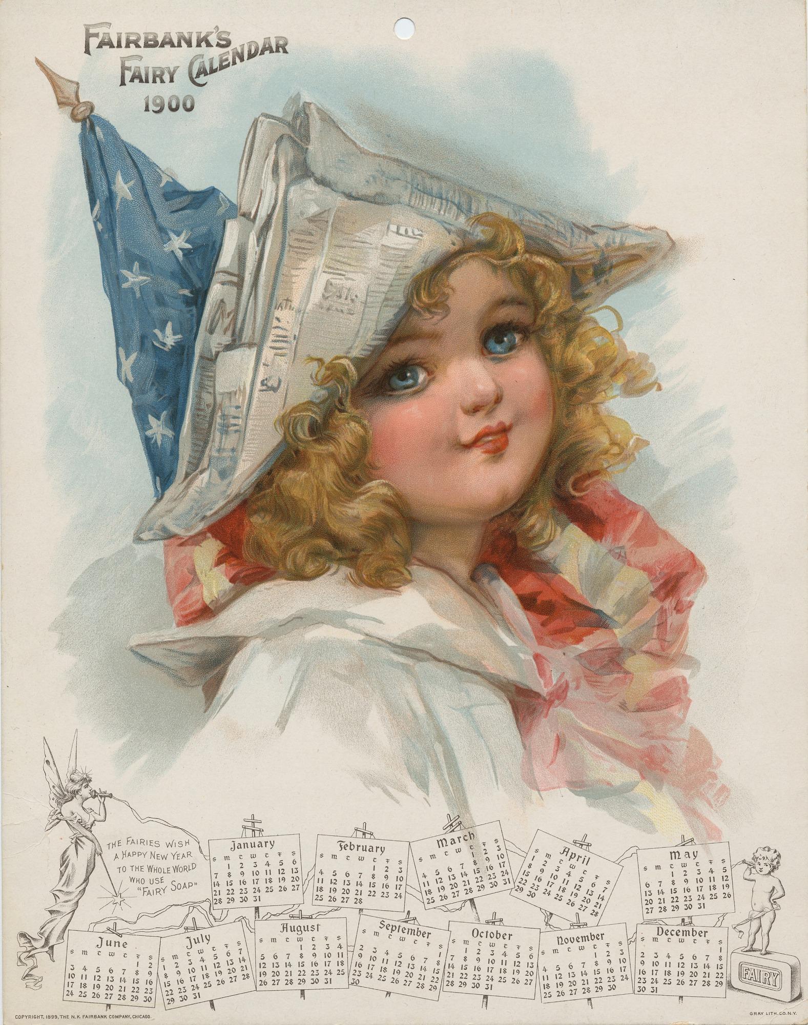images for Fairbank's Fairy Calendar 1900. Calendar. 1899