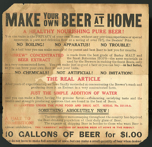 images for Make Your Own Beer at Home Advertisement for malt extract.-thumbnail 1