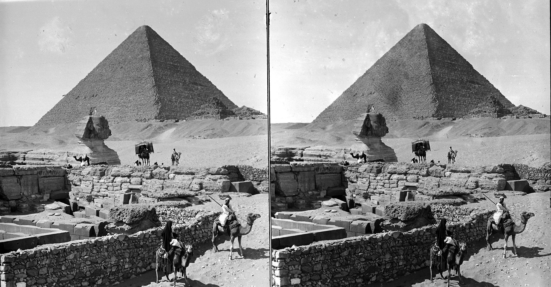 images for Pyramids and Sphinx, Gizeh, Egypt. Active no. 954 : stereo interpositive