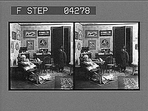 "images for (2) ""Good morning, Doctor. I am so glad you are here, I'm dreadfully worried about dolly."" Active no. 5276 : stereo photonegative-thumbnail 2"
