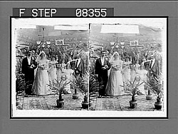 """(6) The Wedding March. Copyright 1900 by R.Y. Young."" 34 1/2 Photonegative 1900"