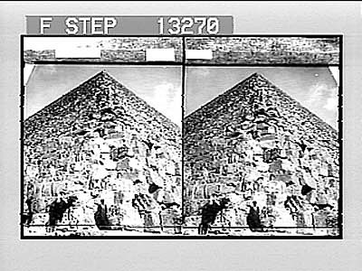 images for Looking up the N.E. corner of the Great Pyramid where tourists ascend. (Look upwards.) 2536 Photonegative 1908