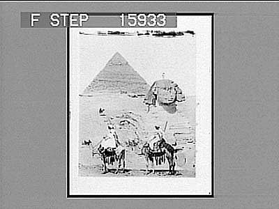 images for Pyramids and Sphinx, Eqypt. Active no. 22995 : half-stereo photonegative