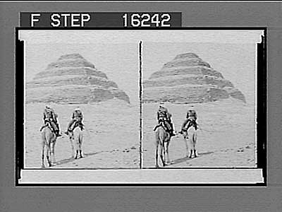 images for The earliest occupation of man and the oldest structure, the Step Pyramid, Egypt. Copyright 1896 by Underwood & Underwood. on negative 23801 Photonegative 1896