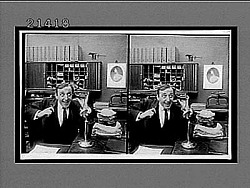 [Office scene, from narrative sequence. Active no. 7897 : stereo interpositive.]