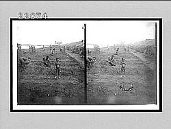 [Families working in field beside river.] 9964 interpositive