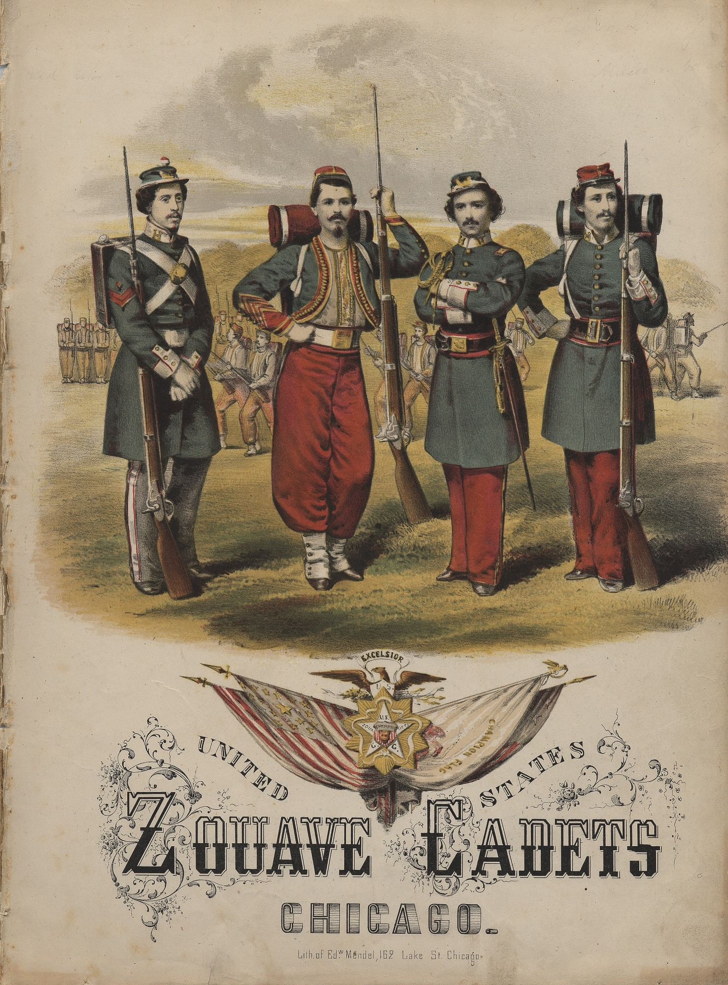 images for United States Zouave Cadets sheet music