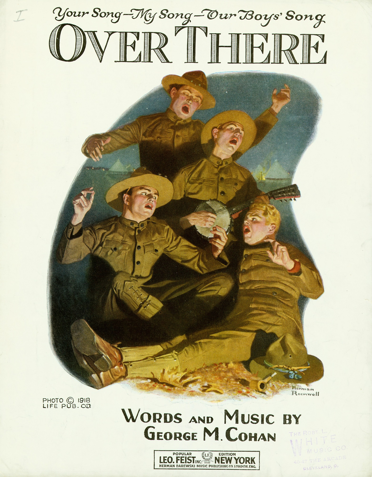 images for Over There with introductory phrase: Your Song--My Song--Our Boys' Song sheet music, 1918