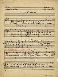 Heart of Harlem [music manuscript]