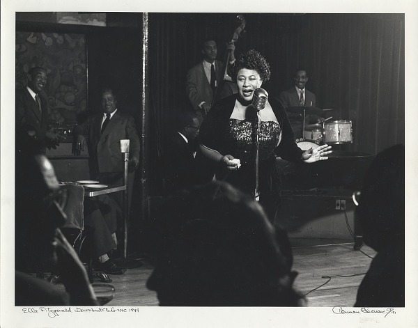 Image for Ella Fitzgerald -- Downbeat Club -- NYC 1949 black-and-white photoprint
