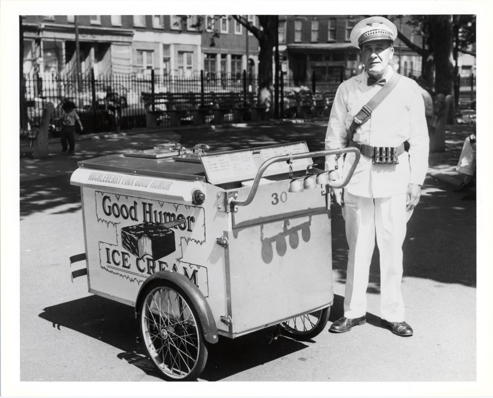 images for Good Humor vendor with pushcart : photoprint, 1961