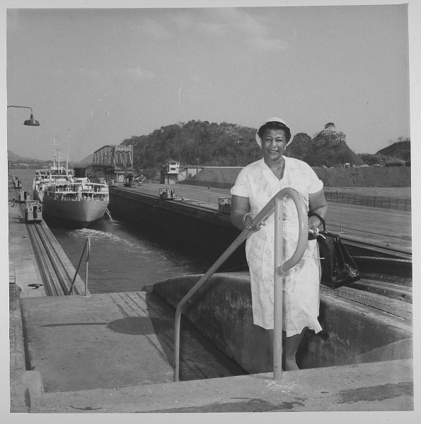 Image for Ella Fitzgerald in Panama photograph, ca. 1955.