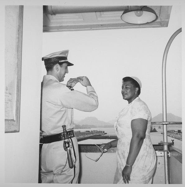 Image for Ella Fitzgerald in Panama: photograph, ca. 1955.