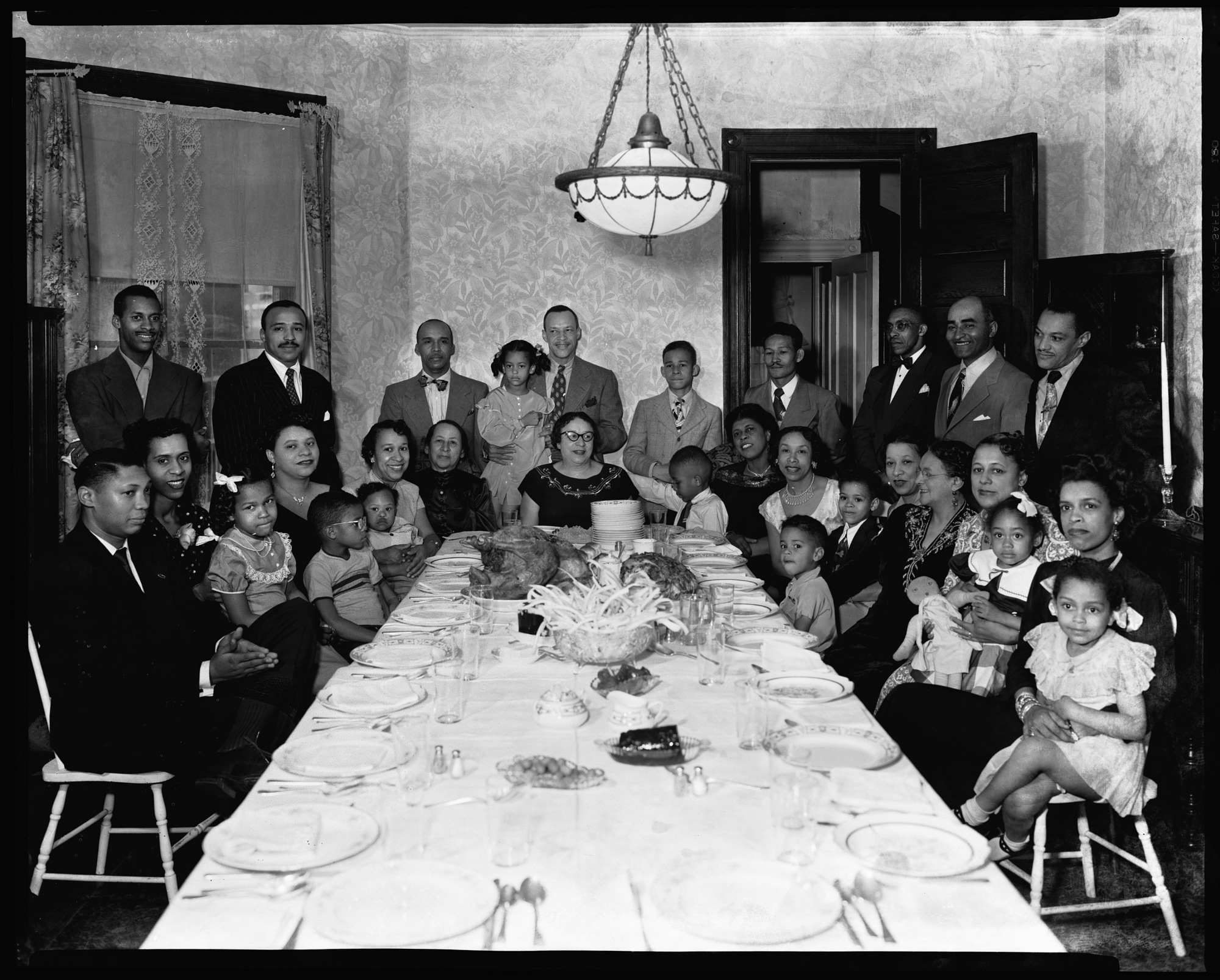 images for Mr. Mercer (?) Conway family dinner, November 23, 1950 : cellulose acetate photonegative